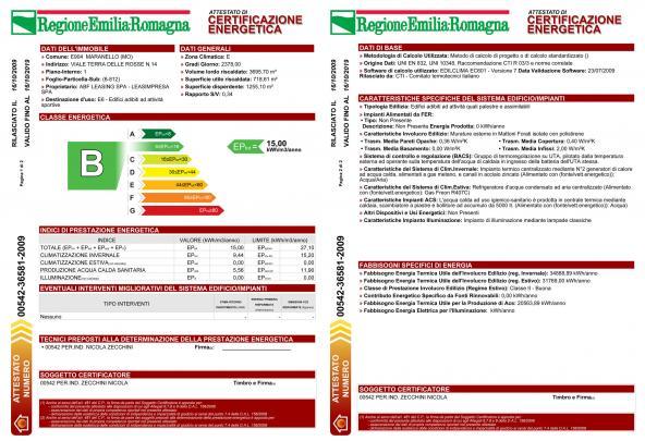 Certificazione energetica di edificio - classe B - PALESTRA - studiozecchinisrl.it